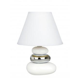 RABALUX 4949 | Salem Rabalux asztali lámpa 25cm vezeték kapcsoló 1x E14 fehér, ezüst