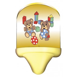 RABALUX 4960 | Sweet_Bear Rabalux fali lámpa vezeték kapcsoló 1x E14 többszínű, sárga