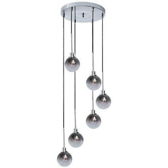 RABALUX 5004 | Semira Rabalux függeszték lámpa 6x E14 króm, fekete, füst