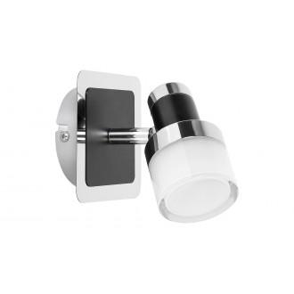 RABALUX 5021 | Harold Rabalux spot lámpa elforgatható alkatrészek 1x LED 400lm 4000K IP44 króm, fekete, opál