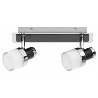 RABALUX 5022 | Harold Rabalux spot lámpa elforgatható alkatrészek 1x LED 800lm 4000K IP44 króm, fekete, opál
