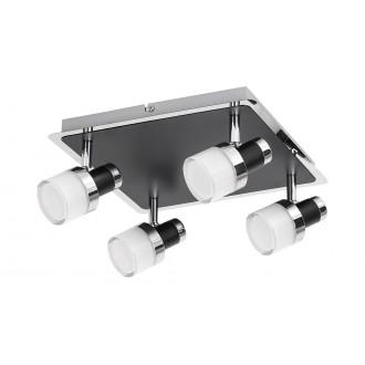 RABALUX 5024 | Harold Rabalux spot lámpa elforgatható alkatrészek 1x LED 1600lm 4000K IP44 króm, fekete, opál