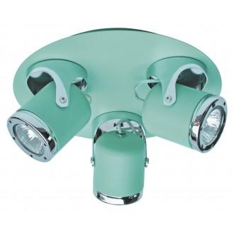 RABALUX 5035 | April-RA Rabalux spot lámpa elforgatható alkatrészek 3x GU10 menta, króm