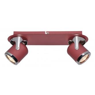 RABALUX 5038 | April-RA Rabalux spot lámpa elforgatható alkatrészek 2x GU10 piros, króm
