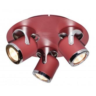 RABALUX 5039 | April-RA Rabalux spot lámpa elforgatható alkatrészek 3x GU10 piros, króm