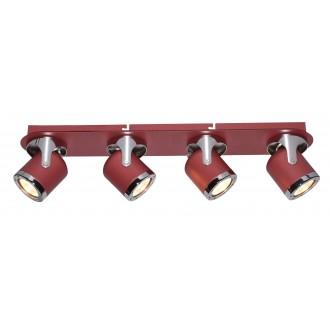 RABALUX 5040 | April-RA Rabalux spot lámpa elforgatható alkatrészek 4x GU10 piros, króm