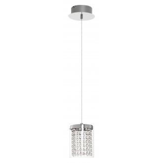 RABALUX 5043 | Astrella Rabalux függeszték lámpa 1x LED 450lm 4000K króm, átlátszó, kristály