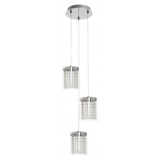 RABALUX 5044 | Astrella Rabalux függeszték lámpa 1x LED 1350lm 4000K króm, átlátszó, kristály
