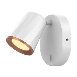 RABALUX 5045 | Solange Rabalux spot lámpa kapcsoló elforgatható alkatrészek 1x LED 380lm 3000K fehér, arany