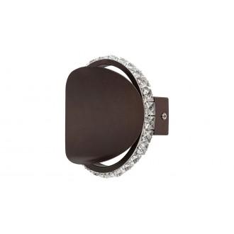 RABALUX 5049 | Capriana Rabalux falikar lámpa 1x LED 480lm 4000K metál barna, kristály