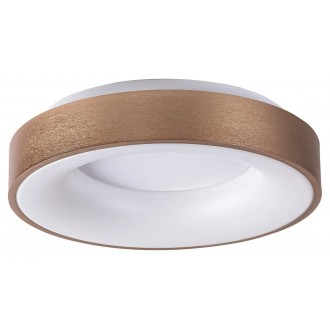 RABALUX 5053 | Carmella Rabalux mennyezeti lámpa kerek 1x LED 3400lm 4000K arany, fehér