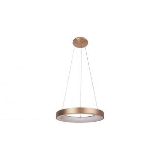 RABALUX 5055 | Carmella Rabalux függeszték lámpa kerek 1x LED 6335lm 4000K arany, fehér