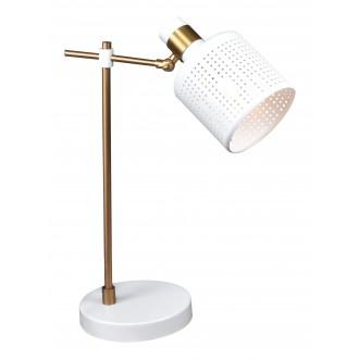 RABALUX 5090   Alberta Rabalux asztali lámpa 42,5cm vezeték kapcsoló elforgatható alkatrészek 1x E27 arany, fehér