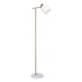 RABALUX 5091 | Alberta Rabalux álló lámpa 156,8cm vezeték kapcsoló elforgatható alkatrészek 1x E27 arany, fehér