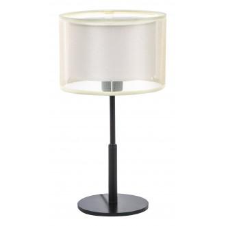 RABALUX 5095   Aneta Rabalux asztali lámpa kerek 40cm vezeték kapcsoló 1x E27 fekete, bézs
