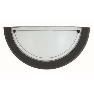 RABALUX 5163 | Ufo3 Rabalux fali lámpa 1x E27 fekete, opál