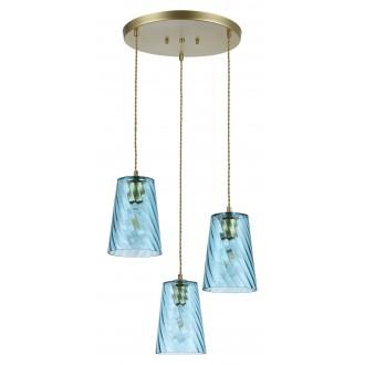 RABALUX 5227 | Azurine Rabalux függeszték lámpa 3x E27 arany, kék