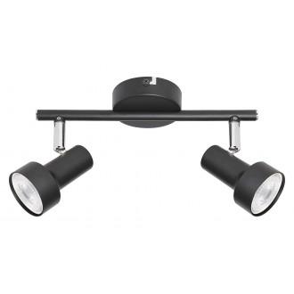 RABALUX 5323 | Konrad Rabalux spot lámpa elforgatható alkatrészek 2x GU10 fekete, króm