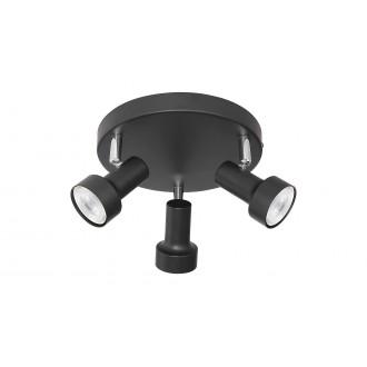 RABALUX 5324 | Konrad Rabalux spot lámpa elforgatható alkatrészek 3x GU10 fekete, króm