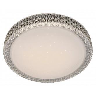 RABALUX 5326 | Lucilla Rabalux mennyezeti lámpa kerek 1x LED 1700lm 4000K fehér, átlátszó, kristály