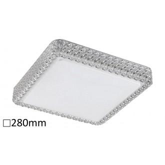 RABALUX 5328 | Lucilla Rabalux mennyezeti lámpa négyszögletes 1x LED 1100lm 4000K fehér, átlátszó, kristály