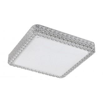 RABALUX 5329 | Lucilla Rabalux mennyezeti lámpa négyszögletes 1x LED 2200lm 4000K fehér, átlátszó, kristály