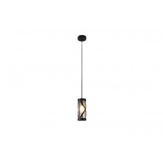 RABALUX 5338 | Oberon-RA Rabalux függeszték lámpa 1x E14 kávé, borostyán