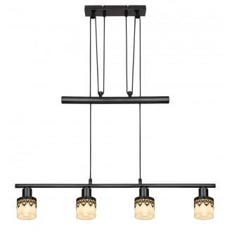 RABALUX 5345 | Lacey-RA Rabalux függeszték lámpa ellensúlyos, állítható magasság 4x E14 fekete, króm, fehér