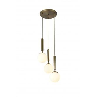 RABALUX 5353 | Divina-RA Rabalux függeszték lámpa 3x E14 arany, fehér