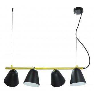 RABALUX 5377 | Alder Rabalux függeszték lámpa elforgatható alkatrészek 4x E14 fekete, arany, fehér