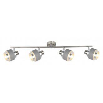 RABALUX 5382 | Basil Rabalux spot lámpa elforgatható alkatrészek 4x E14 szatén króm, szürke