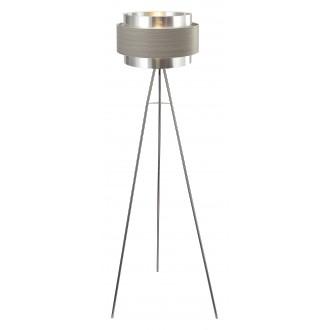 RABALUX 5385 | Basil Rabalux álló lámpa 150cm taposókapcsoló 1x E27 szatén króm, szürke