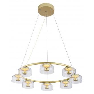 RABALUX 5390 | Lorell Rabalux csillár lámpa 1x LED 3200lm 3000K arany, átlátszó
