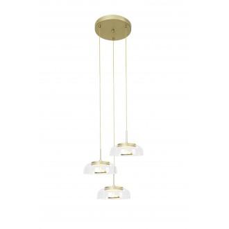 RABALUX 5393 | Lorell Rabalux függeszték lámpa 1x LED 2000lm 3000K arany, átlátszó