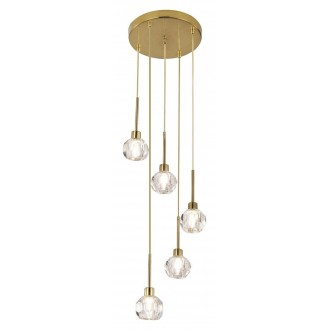 RABALUX 5396 | Kassia-RA Rabalux függeszték lámpa 5x G9 arany, kristály
