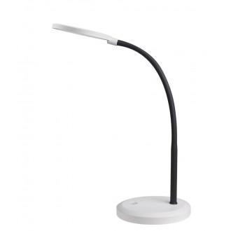RABALUX 5429 | Timothy Rabalux asztali lámpa 58cm fényerőszabályzós érintőkapcsoló flexibilis, szabályozható fényerő 1x LED 440lm 4000K fehér, fekete