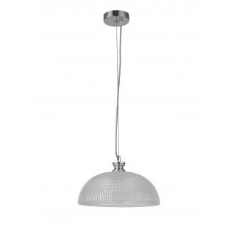 RABALUX 5459 | Petrina Rabalux függeszték lámpa 1x E27 szatén króm, átlátszó