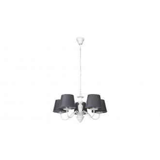 RABALUX 5480 | Flavio-RA Rabalux csillár lámpa 5x E14 fehér, szürke