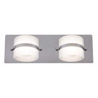 RABALUX 5490 | TonyR Rabalux fali lámpa 2x LED 730lm 4000K IP44 króm, opál