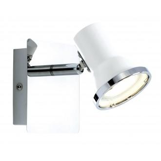 RABALUX 5497 | Steve Rabalux spot lámpa elforgatható alkatrészek 1x GU10 430lm 4000K IP44 fehér, króm