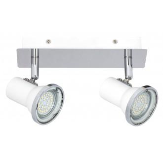 RABALUX 5498 | Steve Rabalux spot lámpa elforgatható alkatrészek 2x GU10 860lm 4000K IP44 fehér, króm