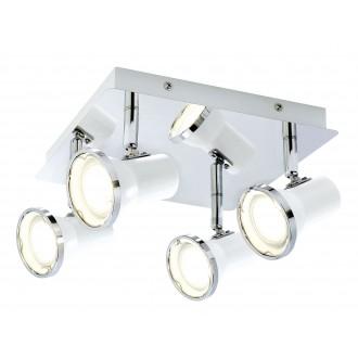 RABALUX 5500 | Steve Rabalux spot lámpa elforgatható alkatrészek 4x GU10 1720lm 4000K IP44 fehér, króm