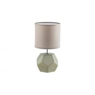 RABALUX 5509 | Galen-RA Rabalux asztali lámpa 26cm kapcsoló 1x E14 szürke, króm, fehér