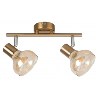RABALUX 5547   Holly-RA Rabalux spot lámpa elforgatható alkatrészek 2x E14 antikolt arany, borostyán