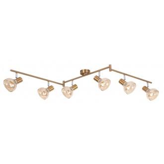 RABALUX 5553 | Holly-RA Rabalux spot lámpa elforgatható alkatrészek 6x E14 antikolt arany, borostyán