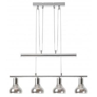 RABALUX 5560 | Holly-RA Rabalux függeszték lámpa ellensúlyos, állítható magasság 4x E14 króm, füst