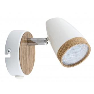 RABALUX 5564 | Karen Rabalux spot lámpa kapcsoló elforgatható alkatrészek 1x LED 280lm 3000K fehér, bükk