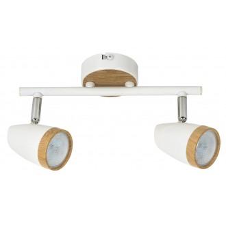 RABALUX 5565   Karen Rabalux spot lámpa elforgatható alkatrészek 2x LED 560lm 3000K fehér, bükk