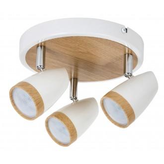 RABALUX 5566 | Karen Rabalux spot lámpa elforgatható alkatrészek 3x LED 840lm 3000K fehér, bükk