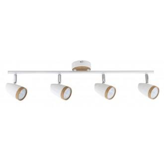 RABALUX 5567 | Karen Rabalux spot lámpa elforgatható alkatrészek 4x LED 1120lm 3000K fehér, bükk